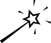 Ausmalbild Malvorlage Zauberstab
