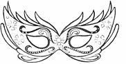 Ausmalbild Malvorlage Maske