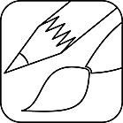 Ausmalbild Malvorlage Pinsel und Stift