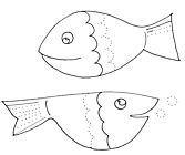 Ausmalbild Malvorlage Fische Schwungübung