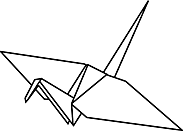 Ausmalbild Malvorlage Origami