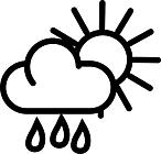 Ausmalbild Malvorlage Sonne und Wolken