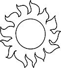 Ausmalbild Malvorlage Sonne