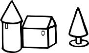 Ausmalbild Malvorlage Bauklötzer