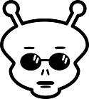 Ausmalbild Malvorlage Alien
