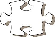 Ausmalbild Malvorlage Puzzleteil