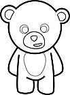 Ausmalbild Malvorlage Teddy / Teddybär