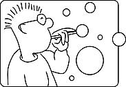 Ausmalbild Malvorlage Seifenblasen