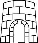 Ausmalbild Malvorlage Burg