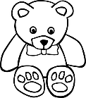 Ausmalbild Malvorlage Teddybär