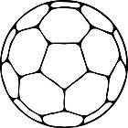 Ausmalbild Malvorlage Fußball