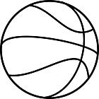 Ausmalbild Malvorlage Basketball