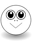 Ausmalbild Malvorlage Smiley