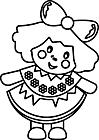 Ausmalbild Malvorlage Puppe