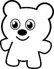 Ausmalbild Malvorlage süßer Bär