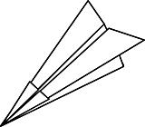Ausmalbild Malvorlage Papierflieger