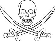 Ausmalbild Malvorlage Piratenschwert