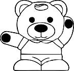 Ausmalbild Malvorlage Teddy