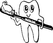 Ausmalbild Malvorlage Comic Zahnbürste Zahnpasta