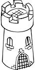 Ausmalbild Malvorlage Turm