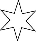 Ausmalbild Malvorlage Stern