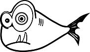 Ausmalbild Malvorlage Fisch