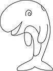 Ausmalbild Malvorlage Wal