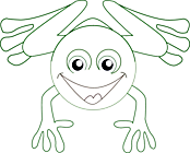 Ausmalbild Malvorlage Frosch