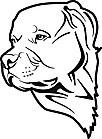 Ausmalbild Malvorlage Hund
