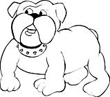 Ausmalbild Malvorlage Bulldogge
