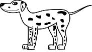 Ausmalbild Malvorlage Dalmatiner