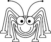 Ausmalbild Malvorlage Grashüpfer