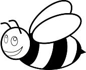 Ausmalbild Malvorlage Biene