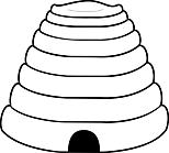 Ausmalbild Malvorlage Bienenkorb