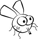 Ausmalbild Malvorlage Fliege