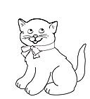 Ausmalbild Malvorlage Katze