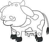 Ausmalbild Malvorlage Kuh