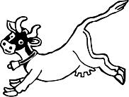 Ausmalbild Malvorlage springende Kuh