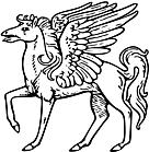Ausmalbild Malvorlage Sternbild Pegasus
