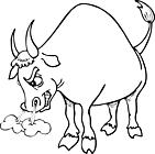 Ausmalbild Malvorlage Bulle/Stier
