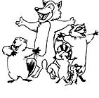 Ausmalbild Malvorlage Singende Tiere
