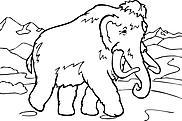 Ausmalbild Malvorlage Mammut