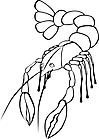 Ausmalbild Malvorlage Krabbe