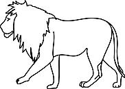 Ausmalbild Malvorlage Löwe