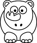 Ausmalbild Malvorlage Nashorn Baby