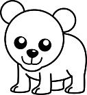 Ausmalbild Malvorlage Bär