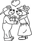 Ausmalbild Malvorlage Bärenpaar
