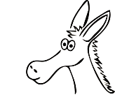 Ausmalbild Malvorlage Esel