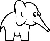 Ausmalbild Malvorlage Elefant