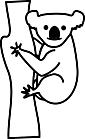 Ausmalbild Malvorlage Koala